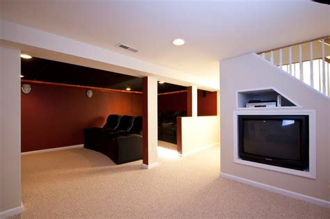 how to remodel a room theater room in a small basement remodel traditional