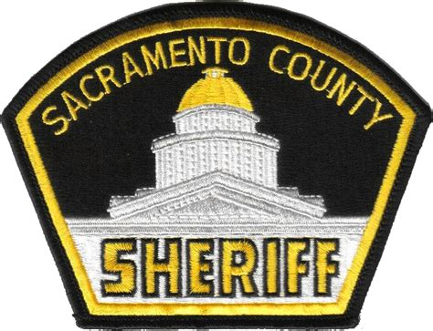 Sac County Records File Patch Of The Sacramento County Sheriff S Department