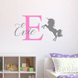 Childrens Bedroom Wall Stickers by Personalised Unicorn Wall Sticker Wall Decal Childrens
