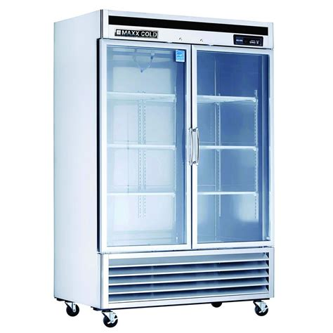 Glass Door Commercial Refrigerator Shop Maxx Cold 49 Cu Ft Commercial Freezerless