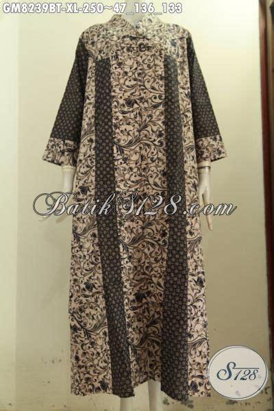 Tunik Batik V Kombi model baju batik wanita masa kini produk terbaru gamis