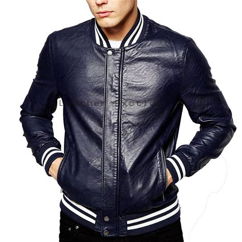 Jaket Eiger Bomber 1989 Olive Black designer style leather jacket leather classic jacket