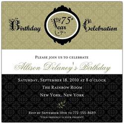 damask 75th birthday invitations paperstyle