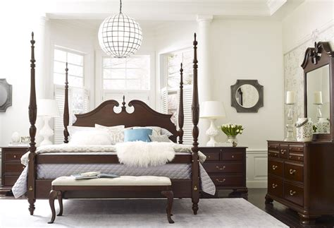 Rice Bedroom Set | hadleigh rice carved poster bedroom set 607 324p kincaid