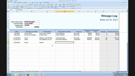 irs mileage log book template best of irs mileage log template excel
