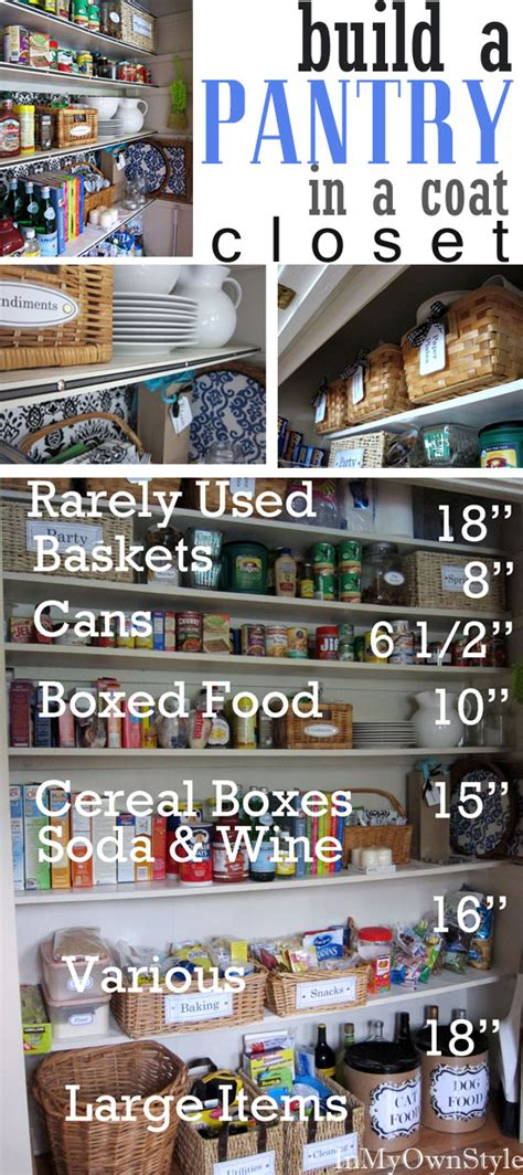 how to set up pantry closet in your home in own style