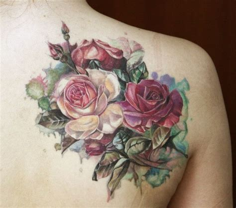 flower back tattoo designs 40 breathtaking watercolor flower designs amazing
