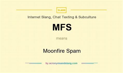 what does ikea mean mfs moonfire spam in internet slang chat texting