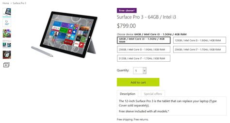 Microsoft Surface Pro 3 I3 microsoft reportedly kills the surface pro 3 i3 model