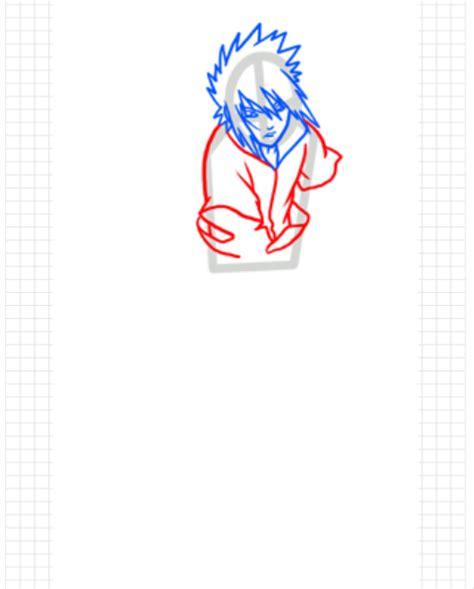 cara menggambar anime sasuke part 1 goyang pensil
