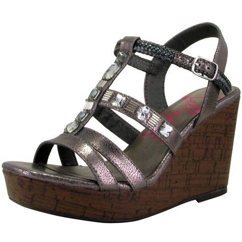 Sepatu Sandal Jelly Gps Bling jellypop rumi t wedge sandals wedge shoes shop