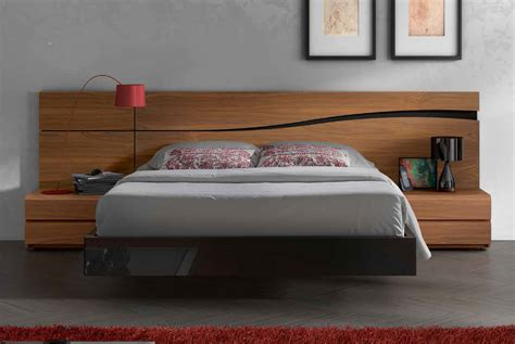 bed design lacquered made in spain wood high end platform bed with