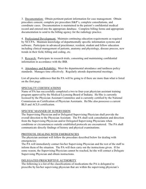 practitioner contract template sle agreement for a pa with prescriptive authority