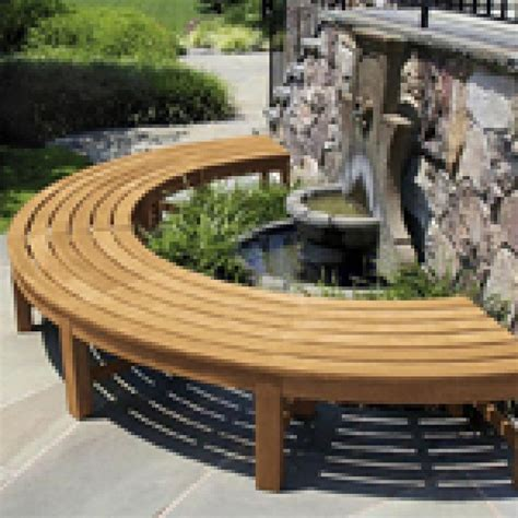 curved teak benches for gardens fsc certified teak curved backless garden bench