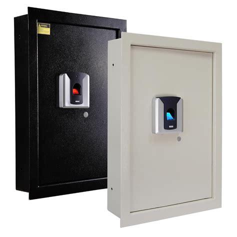 wall safe 100pc fingerprint wall safe biometric lock security box jewelry gun ebay