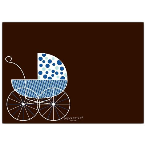 Big Baby Shower Invitations by Big Baby Carriage Blue Shower Invitations Paperstyle