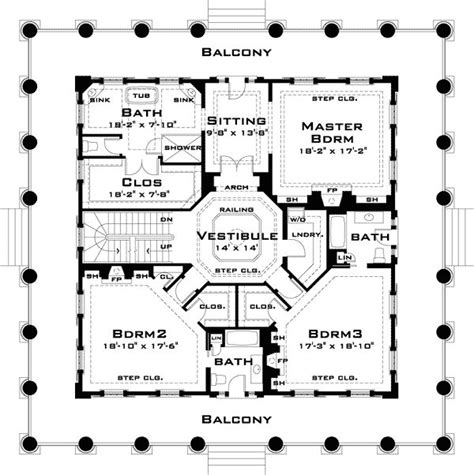plantation floor plans classic revival with tour southern