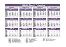 Fiscal Year 2018 Calendar 2018 Fiscal Year Calendar Template Printable Free Templates