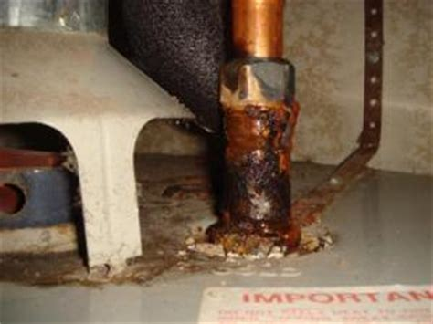 water heater leaking from bottom rust water heater safety part 1 home inspector san diego