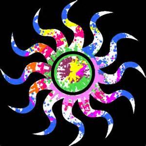 colorful sun colorful sun spin