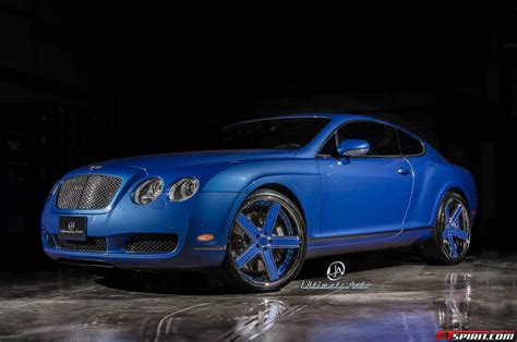 bentley coupe blue azure blue bentley continental gt by ultimate auto gtspirit