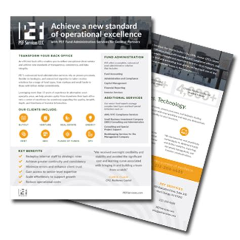 solution sheets pef services