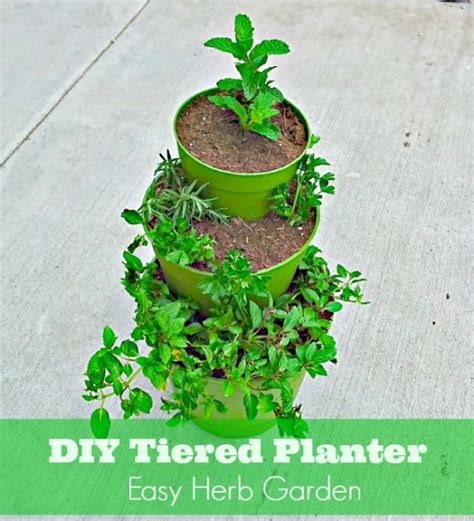 diy herb garden planter diy how to make a tiered planter for flowers and herb gardens