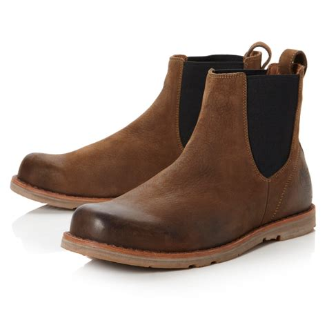 timberland rugged chelsea boots in brown for lyst