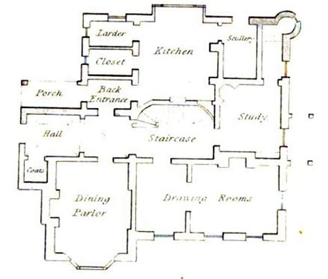 highclere castle floor plans floor plan of a vicarage from 1816 susanna ives