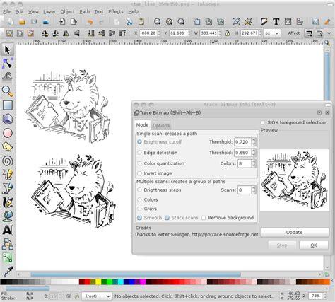 inkscape tutorial svg 使用 inkscape 将位图转化为矢量图 linuxgem
