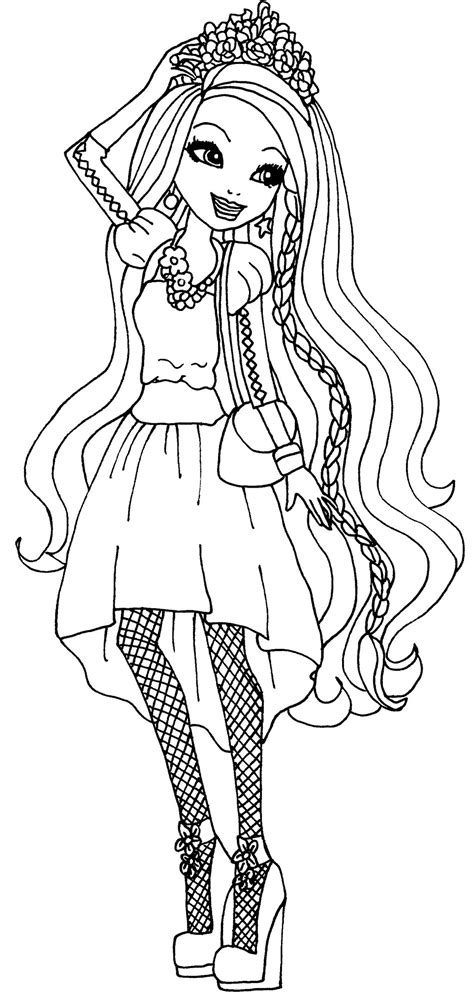 ever after high coloring pages poppy o hair coloring pages ever after high holly ohair coloring pages