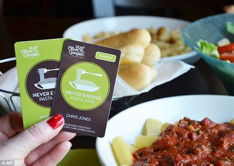 How To Get A Sold Out Olive Garden Never Ending Pasta Pass Today All 2 000 Of Olive Garden S Unlimited Pasta Passes Sell Out In Less Than One Second Daily Mail