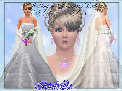 sims 3 wedding hair my sims 3 blog charming bride hair gown and accessories