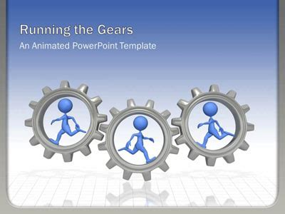 Running The Gears A Powerpoint Template From Animated Gears Powerpoint