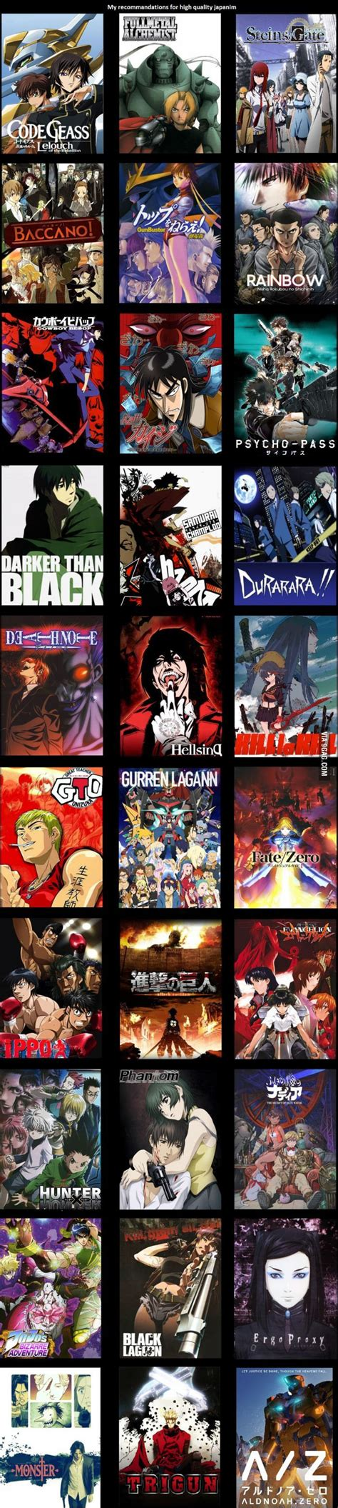 P Anime List by 25 Best Ideas About Animes To On Anime