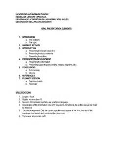 Topic Presentation Outline by Presentation Elements