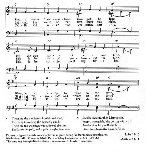 the nativity song liahona dec 1994 liahona