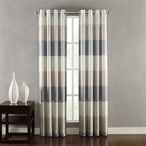 bed bath and beyond curtain panels kas ribbon window curtain grommet panels bed bath beyond