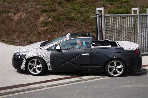 opel convertible spyshots opel astra convertible caught with no roof