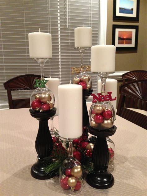 christmas wine glass centerpiece holidays pinterest