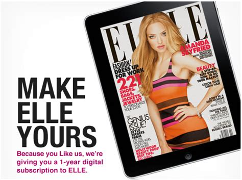 like rue la la facebook get a subscrition to elle magazine free first class fashionista - Elle Magazine Giveaways