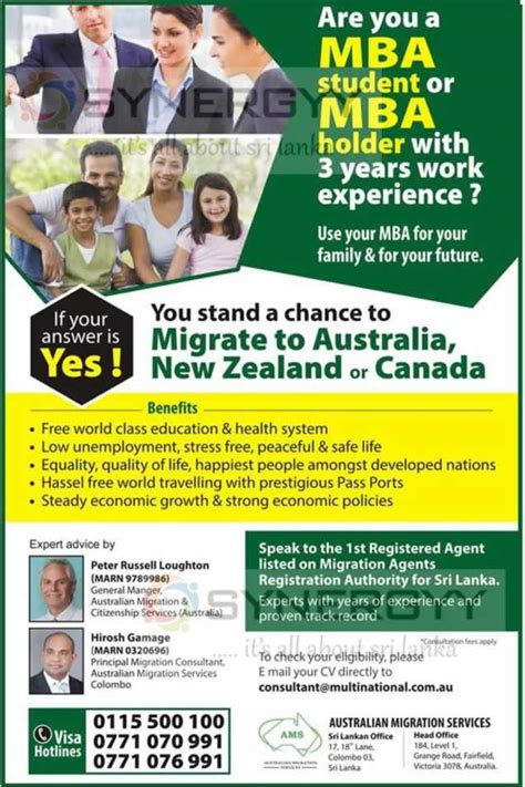 Mba From Canada Or Australia by Australia New Zealand Canada Skill Migration For Mba