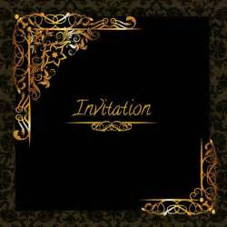 golden design invitation template vector free