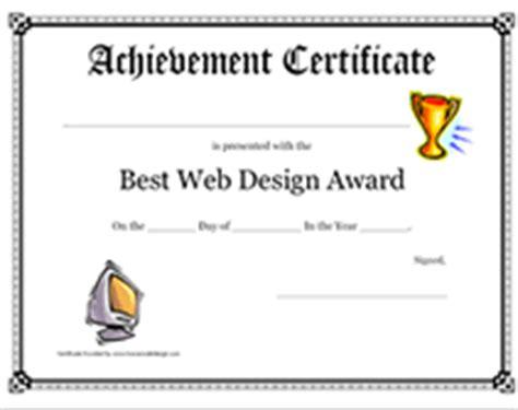 web design certificate gmu printable best web design award certificate children s