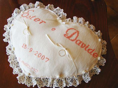 cuscino fai da te cuscino portafedi a cuore 3259 sposalicious