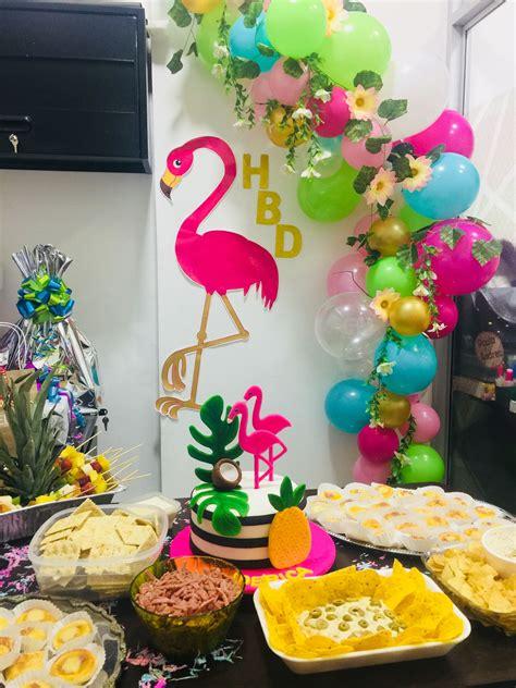 decoracion cumpleanos tropical en  decoracion fiesta