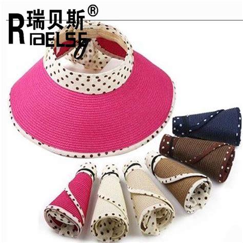 Topi Pantai Unisex Sun Straw Cowboy Hat Murah H2531w wanita kertas kertas jerami topi pantai topi pelindung matahari topi modis topi jerami id produk
