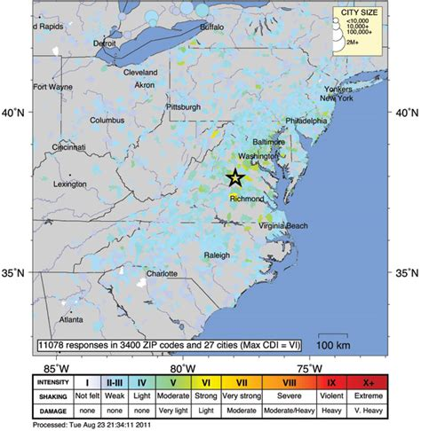 eastern us map with mileage why the east coast earthquake was felt so far away wired
