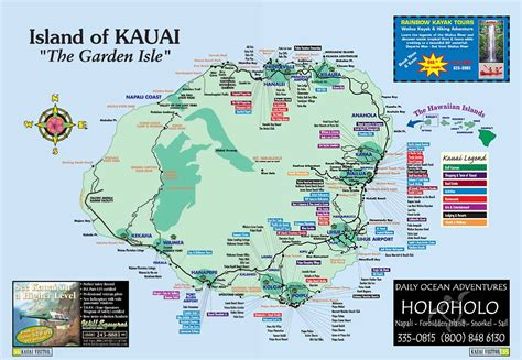 kauai resort map kauai island hawaii tourist map kauai hawaii mappery