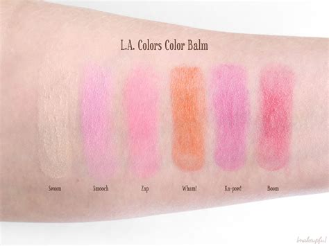 La Color Balm Pink l a colors color balm review makeupfu